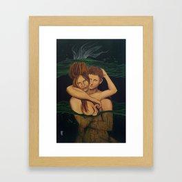 Coban Jodo (Jodo Waterfall) Framed Art Print