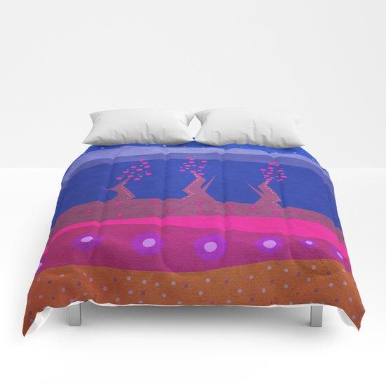 Color/Landscape 5 Comforters