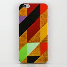 triangles on wood iPhone & iPod Skin