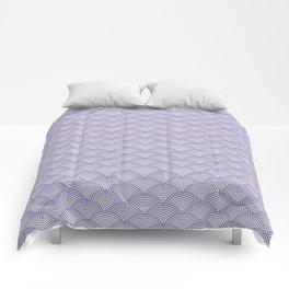 Japanese Dots Fade UltraViolet Comforters