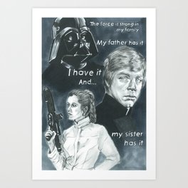The Force Art Print