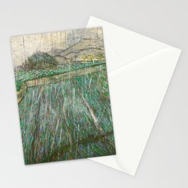Vincent Van Gogh Wheat Field In Rain Stationery Cards