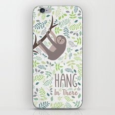 Sloth Hang In There Illustration iPhone & iPod Skin