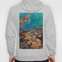 A Look around - Sea turtle in the reef Hoody