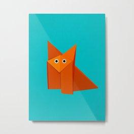 Cute Origami Fox Metal Print