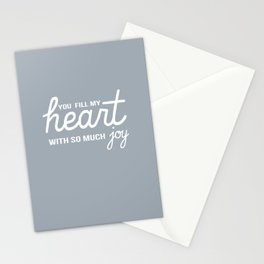 You Fill My Heart with So Much Joy Stationery Cards