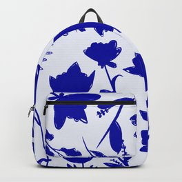 Floral Blue Shadow Backpack