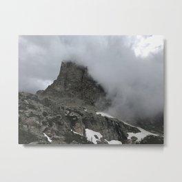 Rain in the Mountains Metal Print