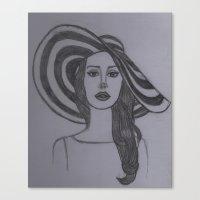 lana del rey Canvas Prints featuring Del Rey  by WonderlandArt