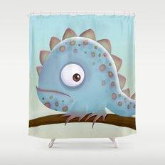 Cute Iguana Shower Curtain