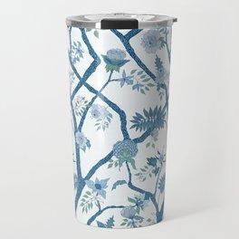 Peony Branch Chinoiserie Mural Travel Mug