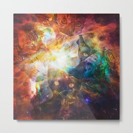 The Cat Galaxy Metal Print