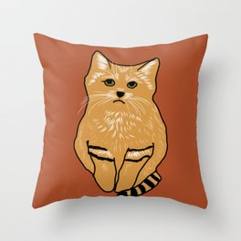 The peculiar sand cat Throw Pillow