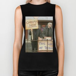 Down With Careful Father Ted Biker Tank