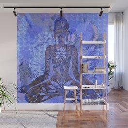 Distressed Textured Meditation Print Wall Mural