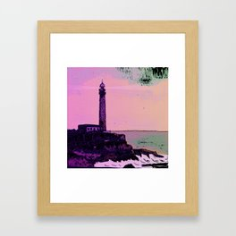 Golden Hours / Lighthouse Barlovento La Palma Framed Art Print