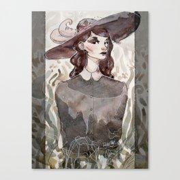 witch portrait Canvas Print
