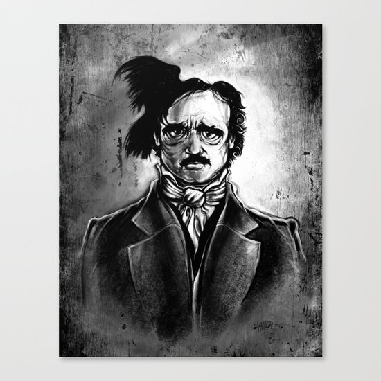 Edgar Allan Poe - I am the Raven Canvas Print