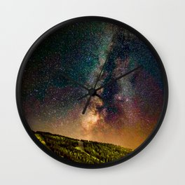 Copper Mountain Galaxy // Incredible Photograph of the Milky Way Stars and Cosmic Dust Wall Clock