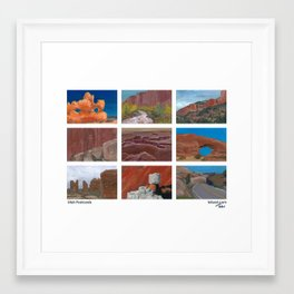 Utah Postcards Framed Art Print