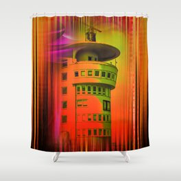 Lighthouse romance17 Shower Curtain