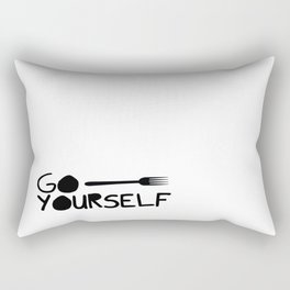Go Fork Yourself Rectangular Pillow
