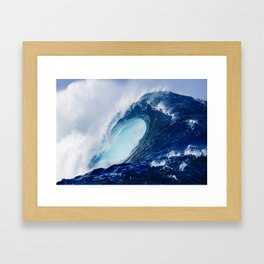 Big Blue Wave Framed Art Print