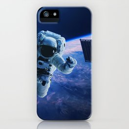 Astronaut in orbit iPhone Case