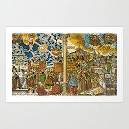 Die wahre Religion Christi und die falsche Lehre des Antichristen Art Print