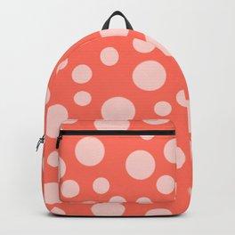 Living Coral Polka Dot Party Backpack