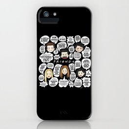 FRIENDS TV Lines iPhone Case