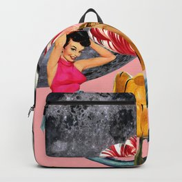 Mermaid Floral with moon Backpack