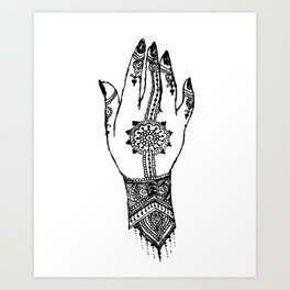 Hand of delicacy. By Ane Teruel. Art Print