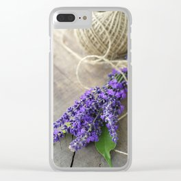 Lavender bouquet Clear iPhone Case