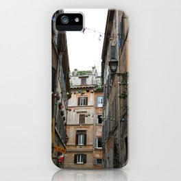An alleyway in Rome. iPhone Case