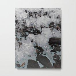 Stone & Ice Metal Print