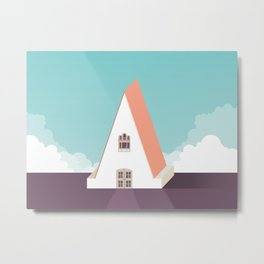 A is for Arquitecture Metal Print