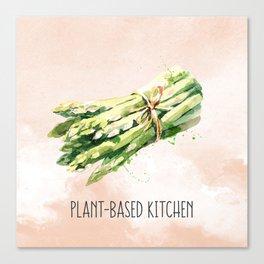 Plant-Based Kitchen Asparagus Canvas Print