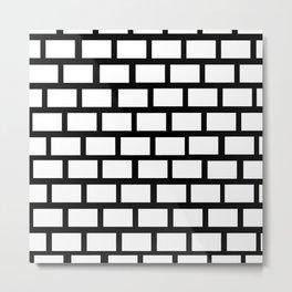 Funn black an white wall Metal Print
