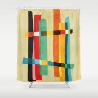 broken Shower Curtains featuring Broken Fences by Picomodi