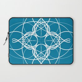 Blue White Swirl Laptop Sleeve