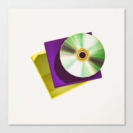 Lo-Fi goes 3D - The Compact Disc Canvas Print
