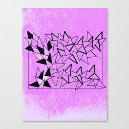 Purple Triangles Canvas Print