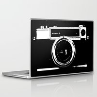 camera Laptop & iPad Skins featuring Camera by Maressa Andrioli