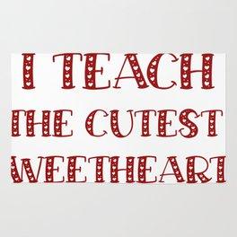 Teacher Valentine's Day Funny Teachers Gifts Rug