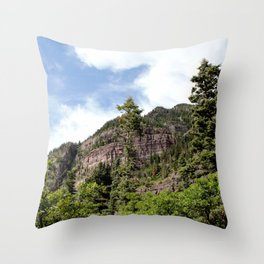 A Trail Leads Up There, to the Upper Cascades --- Rising 1,100 Feet in Less Than a Mile Throw Pillow