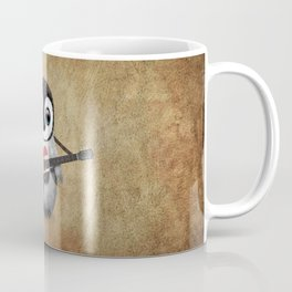 Baby Penguin Playing Egyptian Flag Acoustic Guitar Coffee Mug