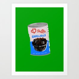 Grass Jelly Art Print