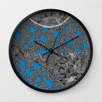 sagan Wall Clocks featuring - cosmos_04 - by Magdalla Del Fresto