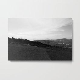 landscape near labin croatia bw Metal Print